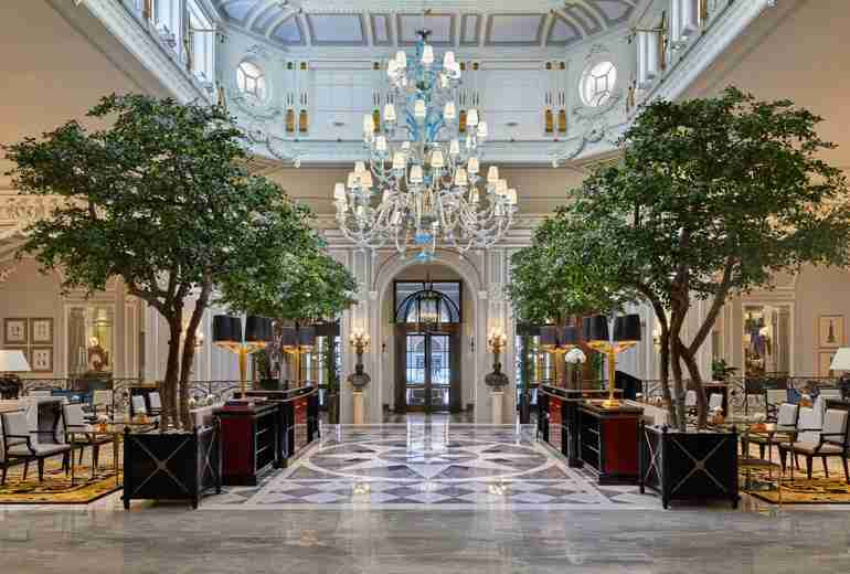 The St. Regis Rome lobby. Image by hotel.