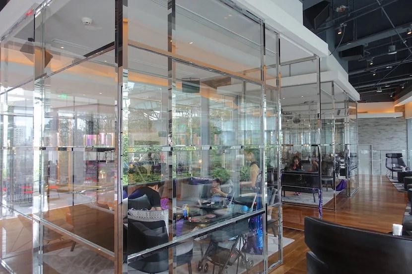 W Shanghai glass booths