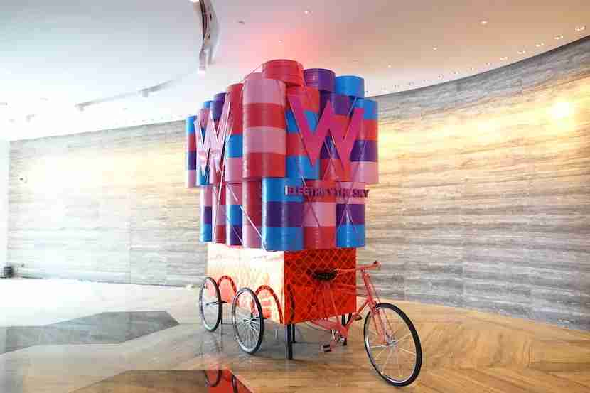 W Shanghai lobby bike