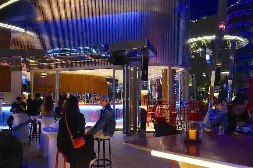 W Shanghai outdoor bar night