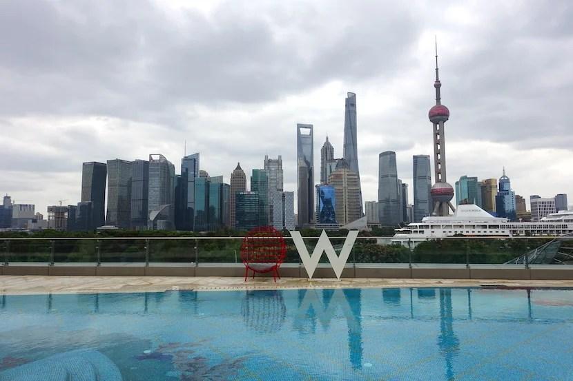 W Shanghai pool view day