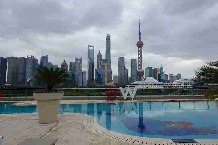 W Shanghai pool view