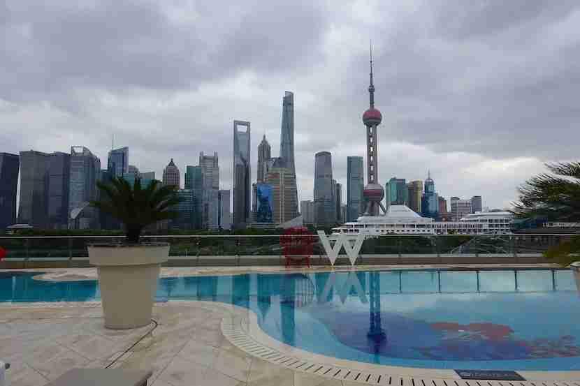 W Shanghai pool view