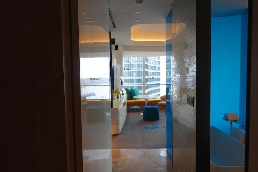 W Shanghai room entrance