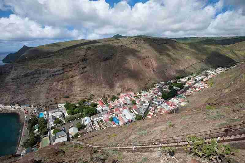 Jamestown is the main city of St. Helena and built in a single valley.