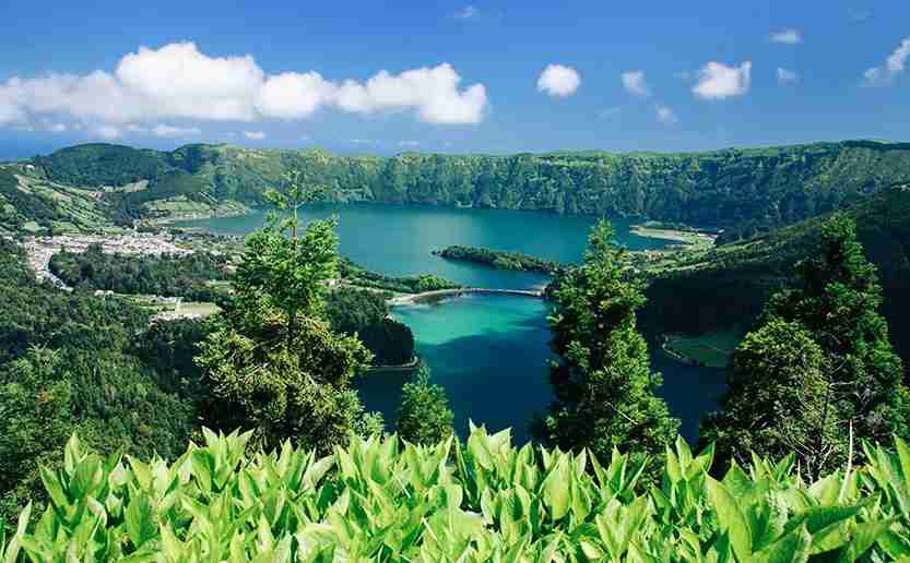 The crater lakes at Sete Cidades. Image credit: Getty Images.