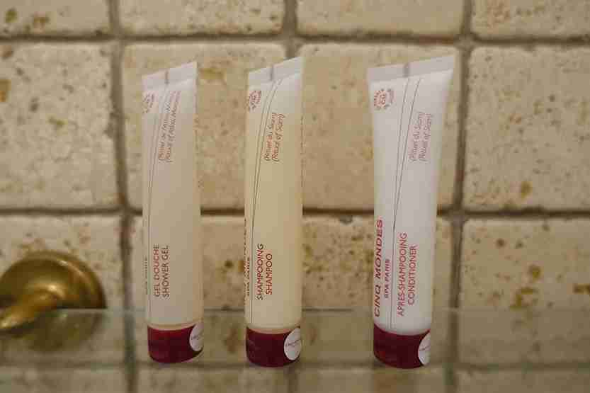 Bathroom amenities 1 Al Maha Desert Resort Dubai Review