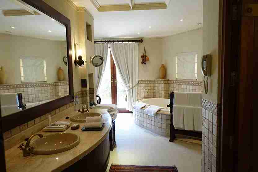 Bathroom sinks Al Maha Desert Resort Dubai Review
