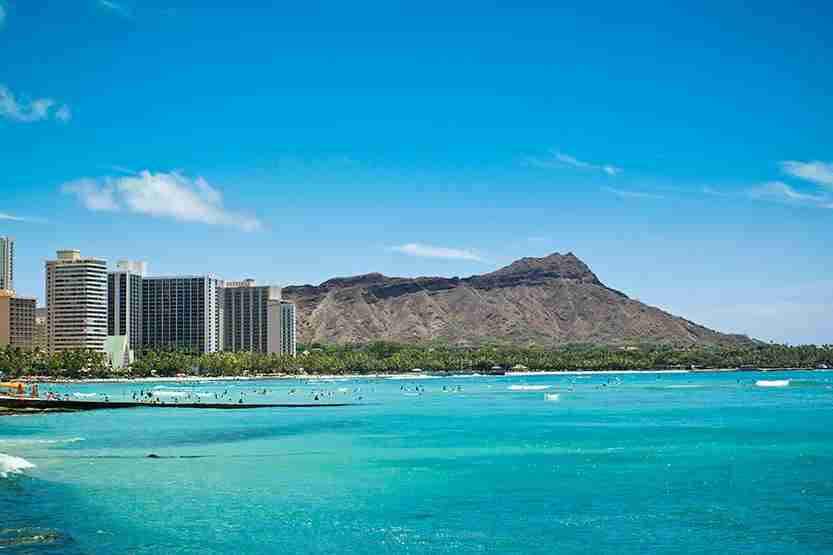Diamond Head in Waikiki, Hawaii