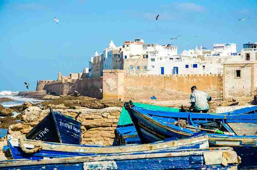 The whitewashed buildings and seascapes of Essaouira were made for Instagram. Image credit: Getty Images.