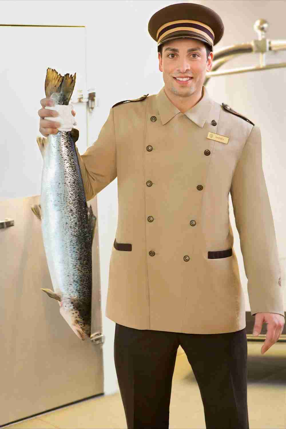 What a catch! Need to fly a fish home with you? Harvey Makasa can help. Image courtesy of Fairmont Vancouver Airport.
