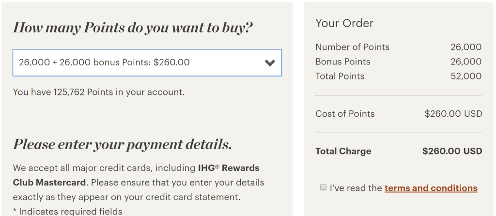 IHG buy points at 0.5 cents