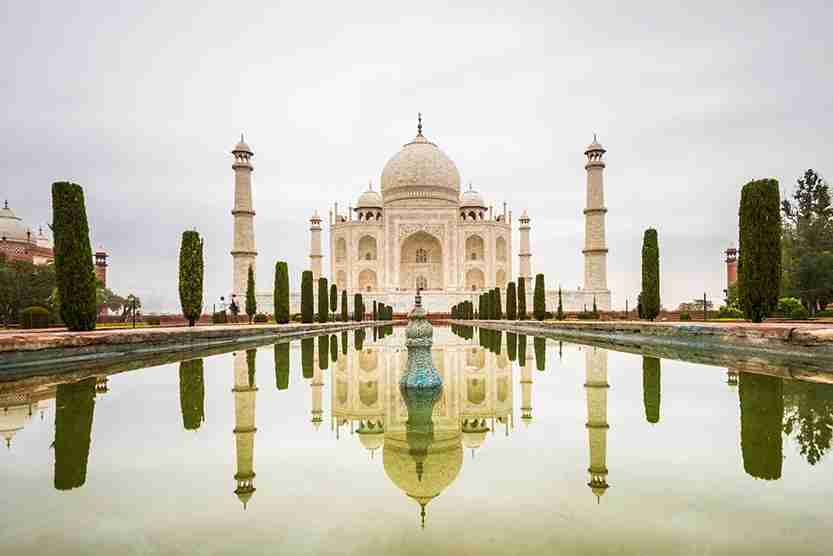 The Taj Mahal is a must for first-time visitors. Image credit: Getty Images.