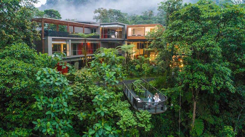 Mashpi Lodge in the cloud forests of Ecuador. Image courtesy of Mashpi Lodge.
