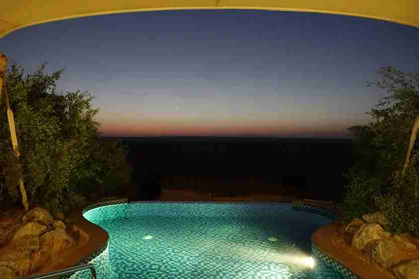 Plunge Pool nite Al Maha Desert Resort Dubai Review