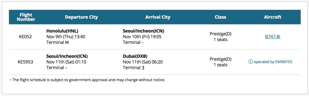 korean air baggage policy