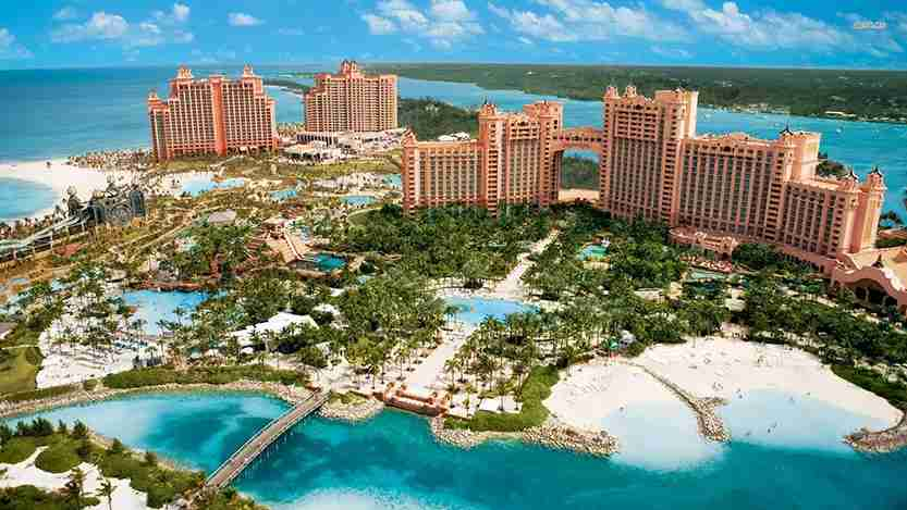 Atlantis is the biggest hotel in the Bahamas