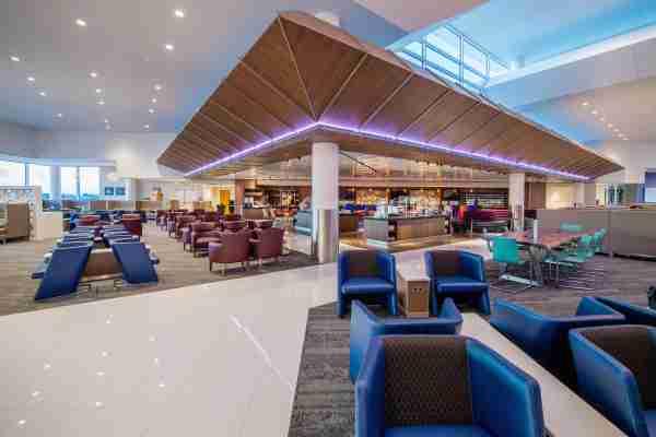 Interior photos of the Terminal B Delta Air Lines Sky Club at Hartsfield Jackson International airport on Thursday, September 22, 2016. © 2016, Chris Rank, Rank Studios