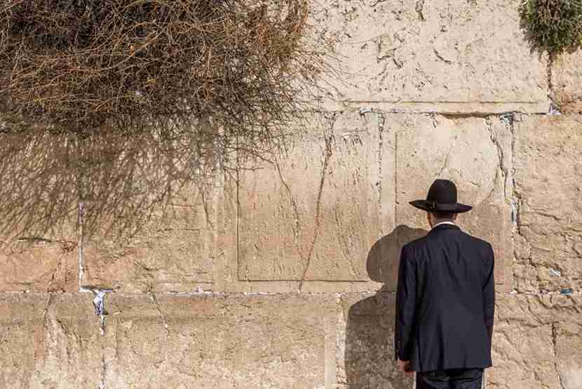 Man praying at the wailing wallon February 27, 2017 in Jerusalem, Israel (Photo by Michael Jacobs/Art in All of Us/Corbis via Getty Images)