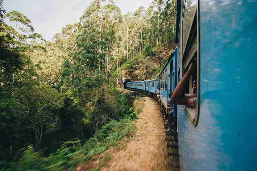 Taking the train is one of the most memorable experiences in Sri Lanka. (Photo by John Crux Photography / Getty Images.)