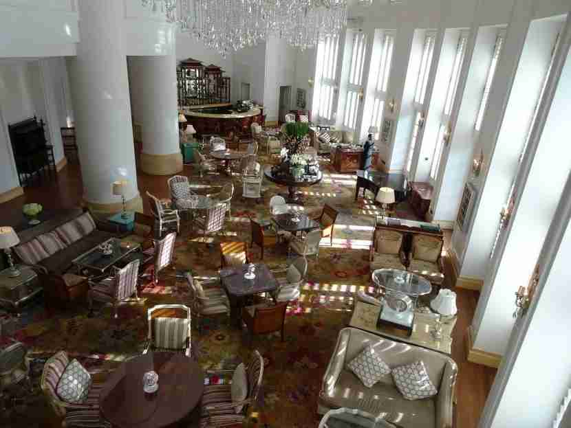 The Park Lounge dazzles from above.