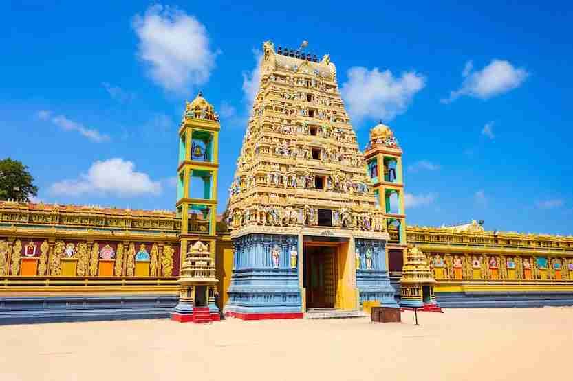 The Vallipuram Alvar Vishnu Temple in Jaffna is one of Sri Lanka