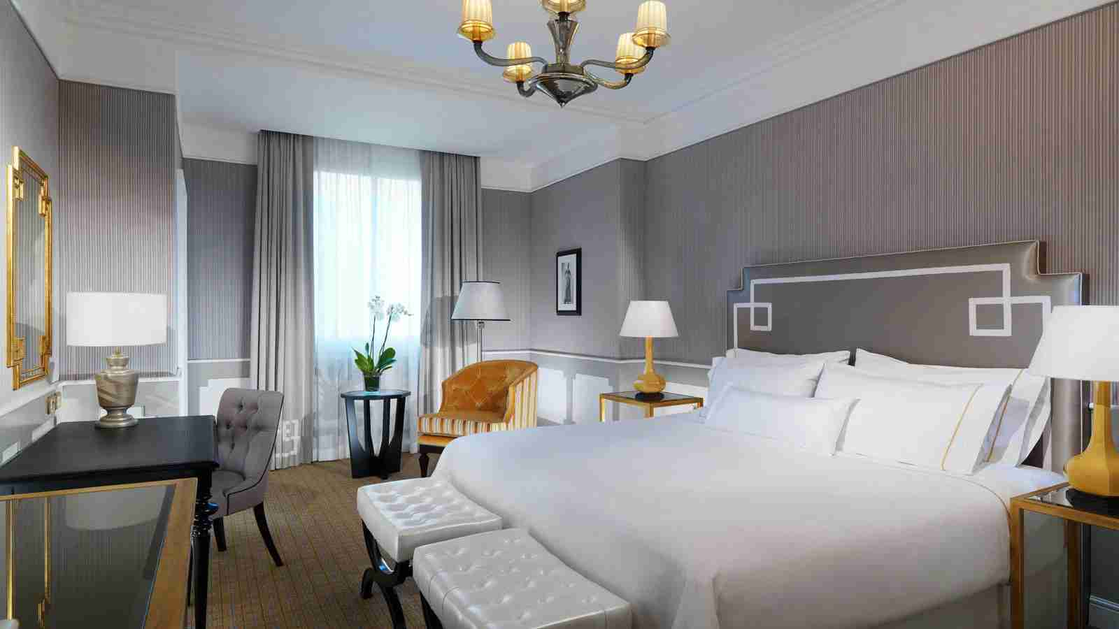 A room at the Westin Palace Milan. Image by hotel.