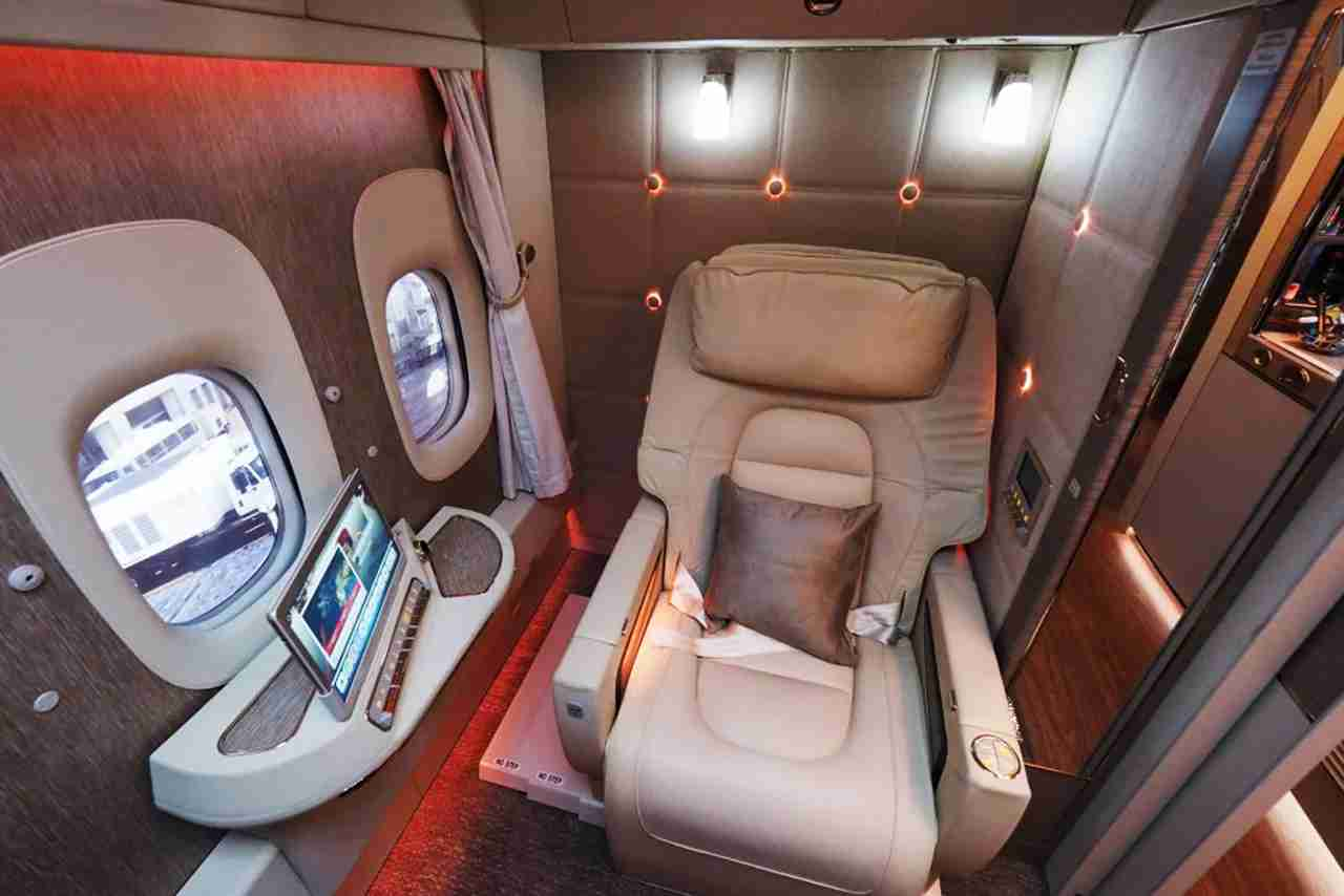 Emirates first-class suite