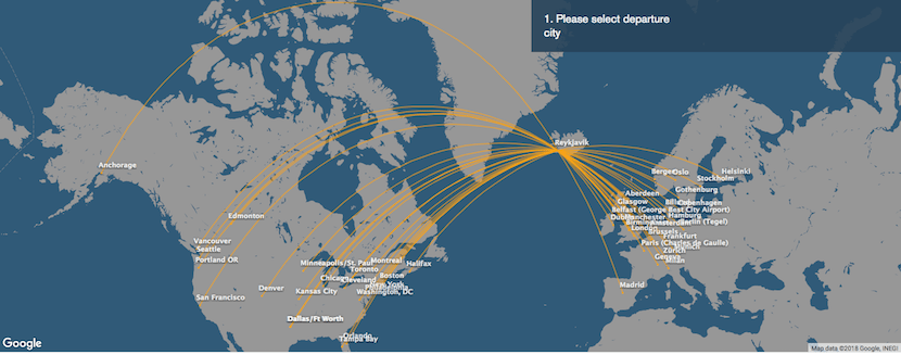 Icelandair has expanded its route network to the US in recent years.