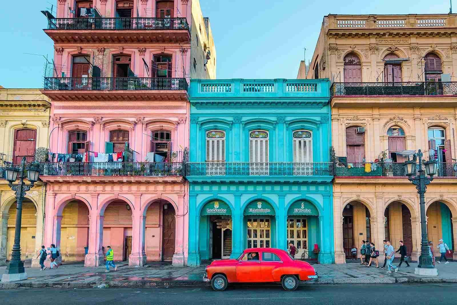 Havana Cuba with car