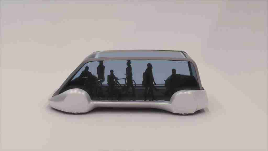 A model of the mass transit skate pod.