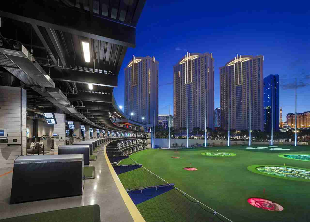 Top Golf, located behind the MGM Grand. (Photo courtesy Top Golf)