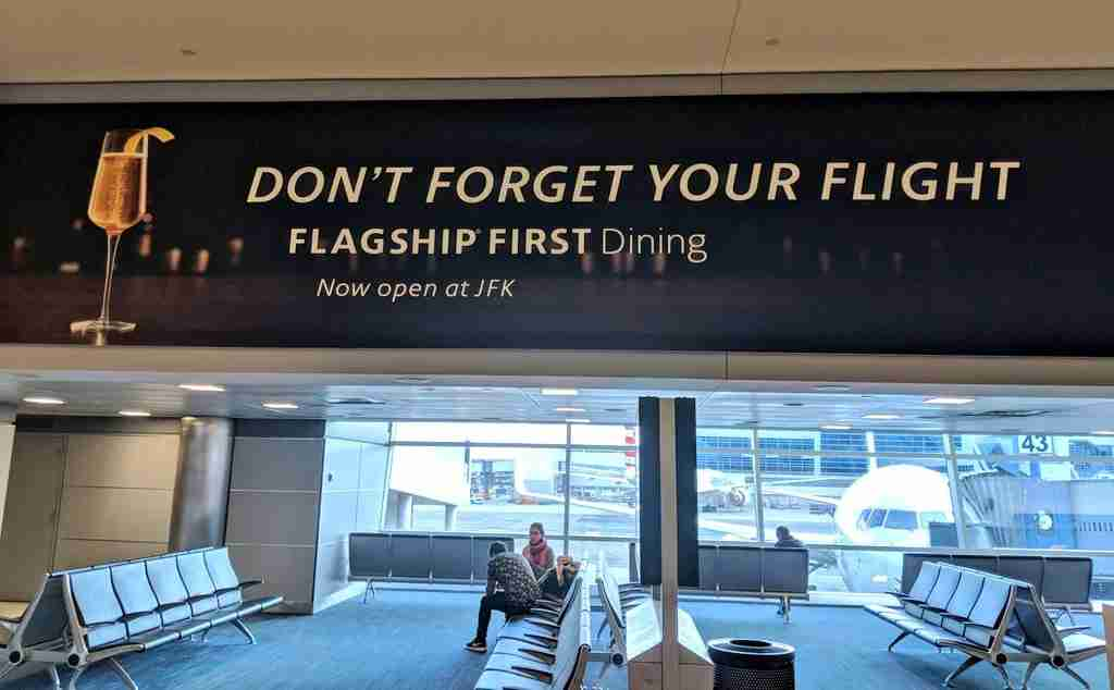 Flagship First Dining advertisement found in New York