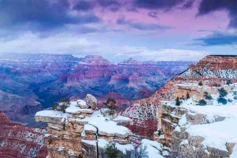 Scenic view of snow at canyon. Photo by Michael DeYoung// Getty Images