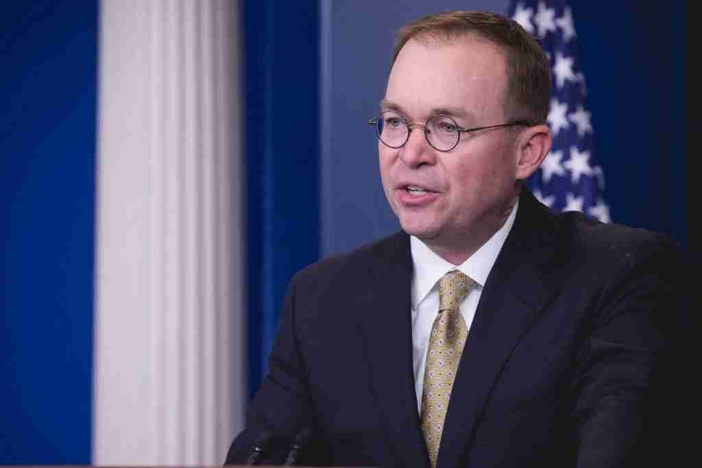 Office of Management and Budget Director Mick Mulvaney speaks to press during a briefing on the government shutdown, in the James S. Brady Press Briefing Room of the White House in Washington, D.C., on Saturday, January 20, 2018. (Photo by Cheriss May) (Photo by Cheriss May/NurPhoto via Getty Images)