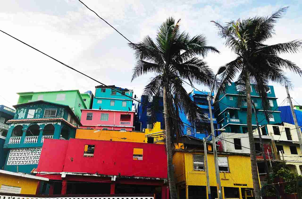 Bright colors of La Perla in Old San Juan, Puerto Rico. (Photo by Isabelle Raphael)
