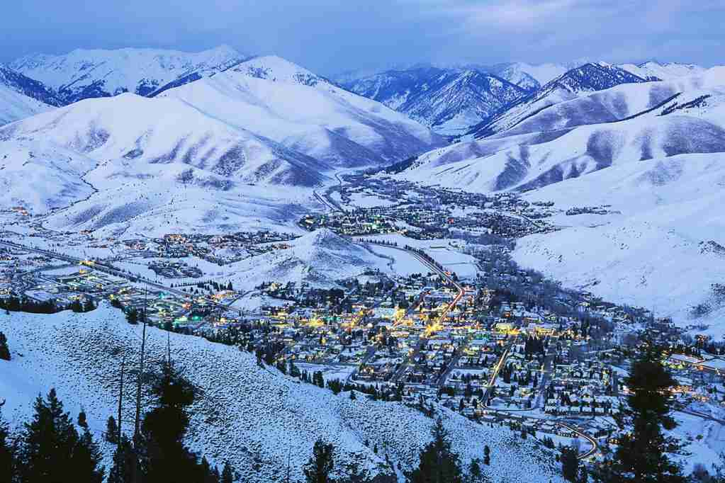Sun Valley Idaho and Ketchum in Winter. (Photo by Ro-ma Stock Photography/Getty Images)