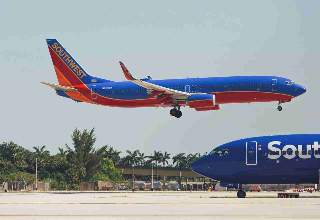Southwest Airlines Boeing 737 landing at the Fort Lauderdale/Hollywood International Airport. (Photo by Carlos Yudica / Shutterstock.com)