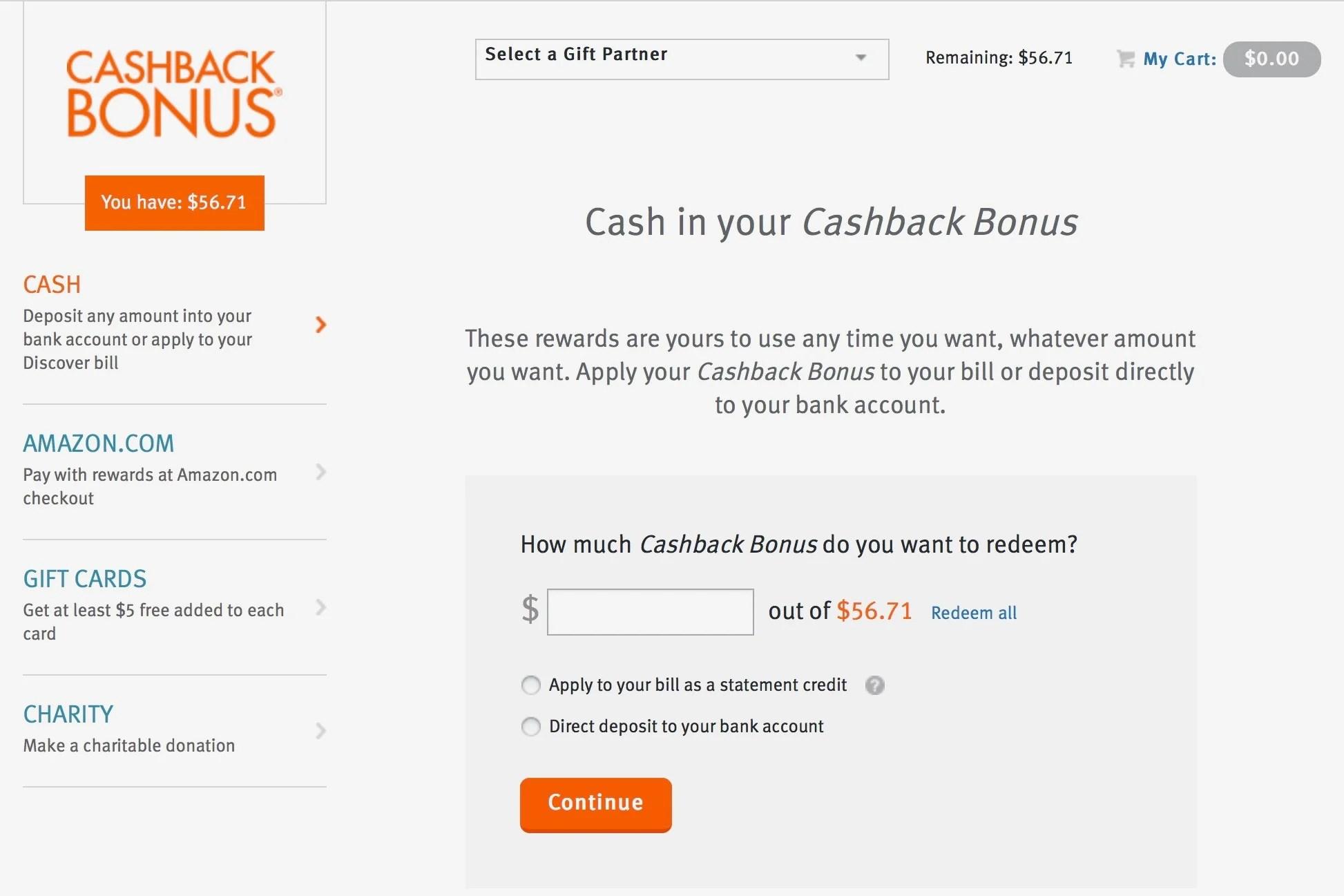 How to Redeem Discover Cash-Back Rewards