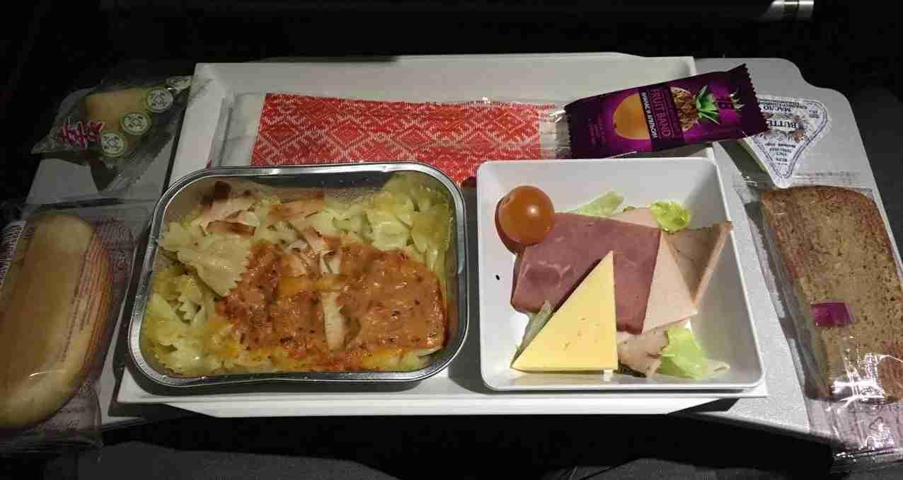 My second economy class dinner onboard Aeroflot