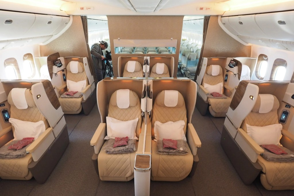 Check Out Emirates First 777 With The New Biz Class Seats
