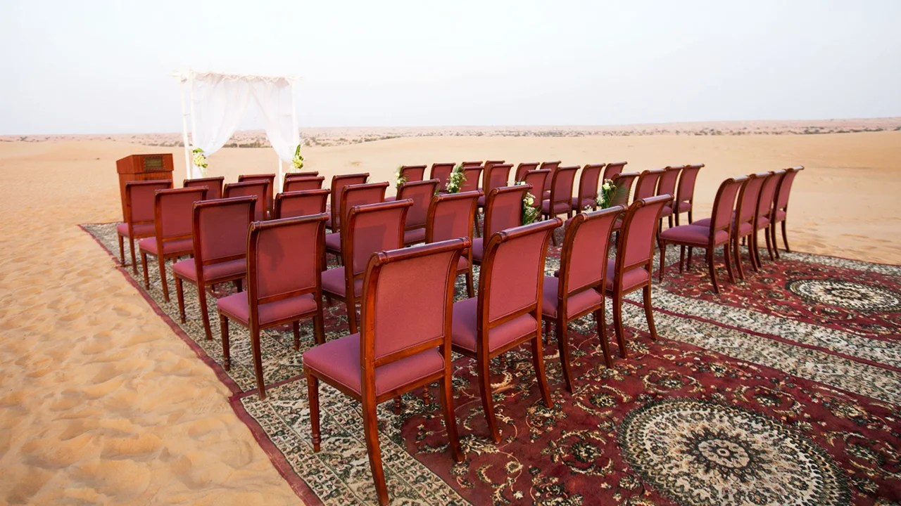Al Maha, A Luxury Collection Desert Resort & Spa, Dubai, Unusual Weddings (Photo courtesy of Al Maha)