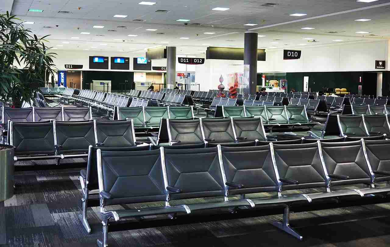 Gate area was empty when I arrived an hour before boarding.