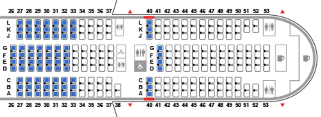 Where to Sit on United's New 777-200: Economy and Economy Plus on 777 seat plan, 777 seat diagram, delta a380 seating map, 777 seat profile, 777 seat configuration,