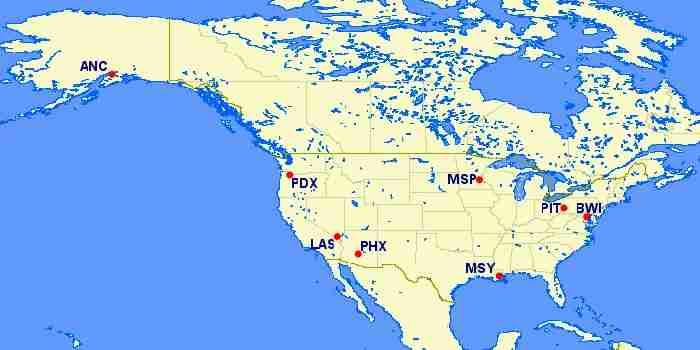 Condor US destinations.