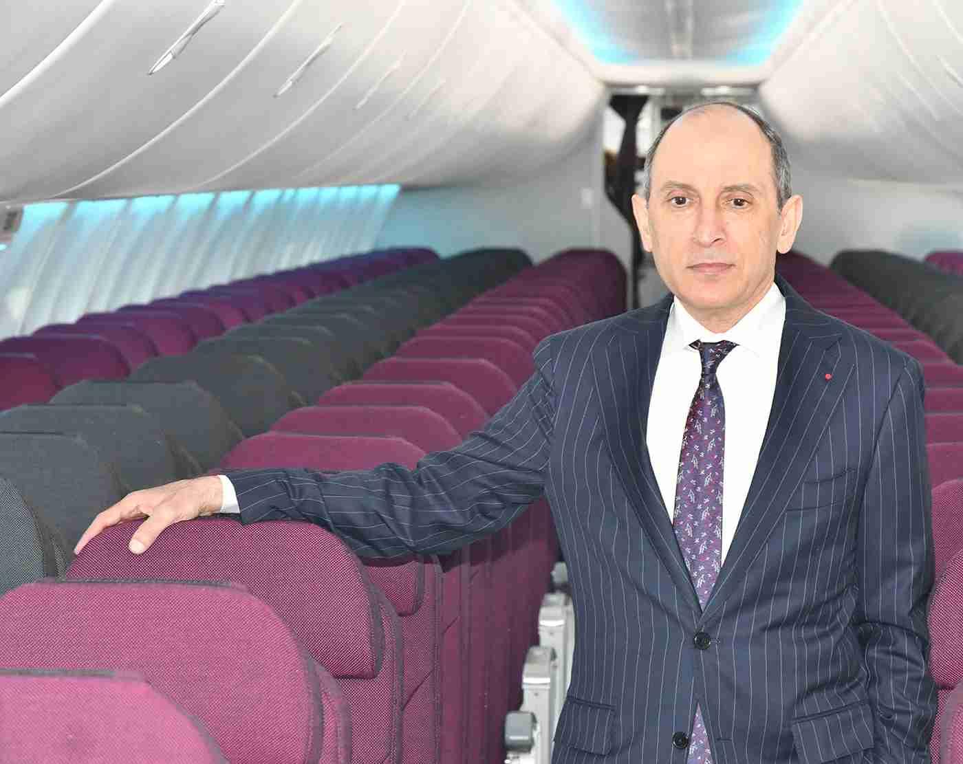 Akbar al Baker inside the first Air Italy 737 MAX