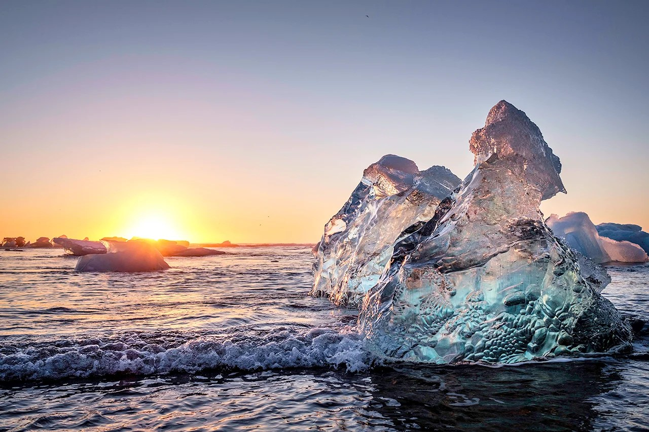 Breiðamerkursandur, Diamond Beach, Iceland.(Photo by Jorge Fernández/LightRocket via Getty Images)