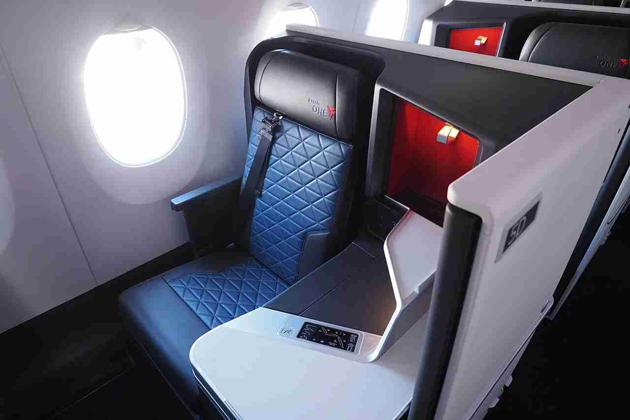 Delta One Suites aboard an Airbus A350