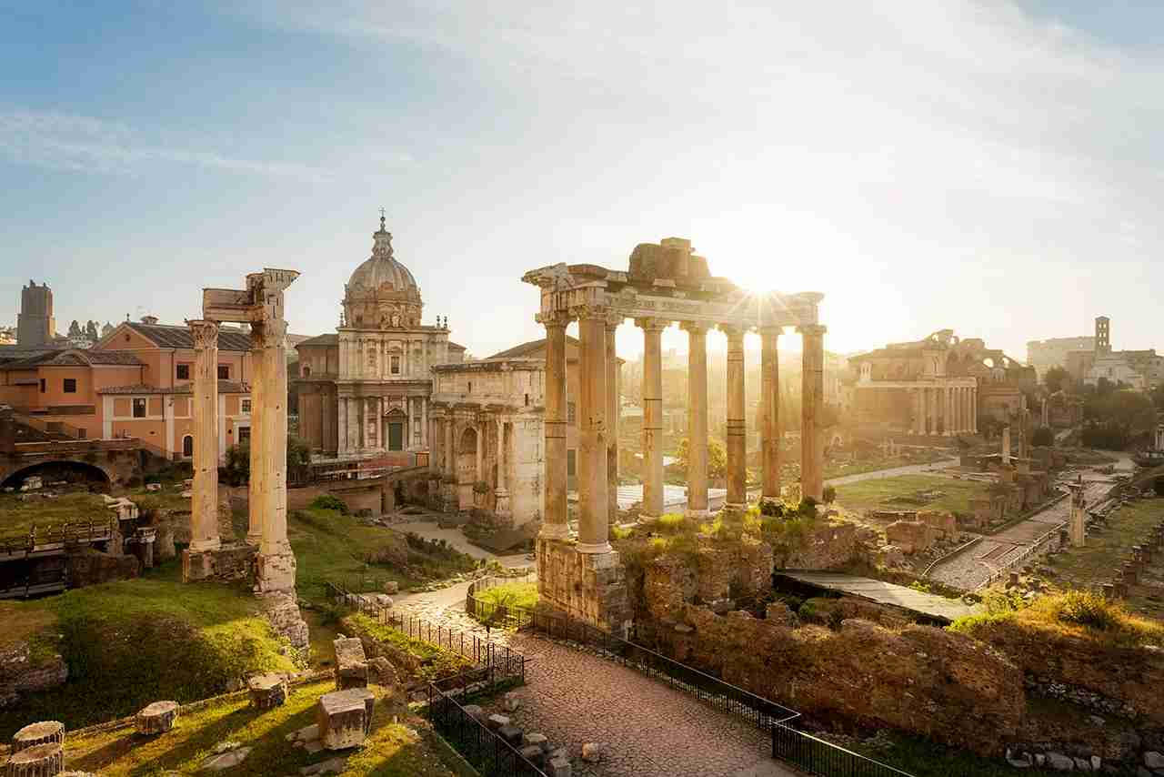 The Roman forum at sunrise, Rome, Italy. (Photo by PEC Photo - Getty Images)