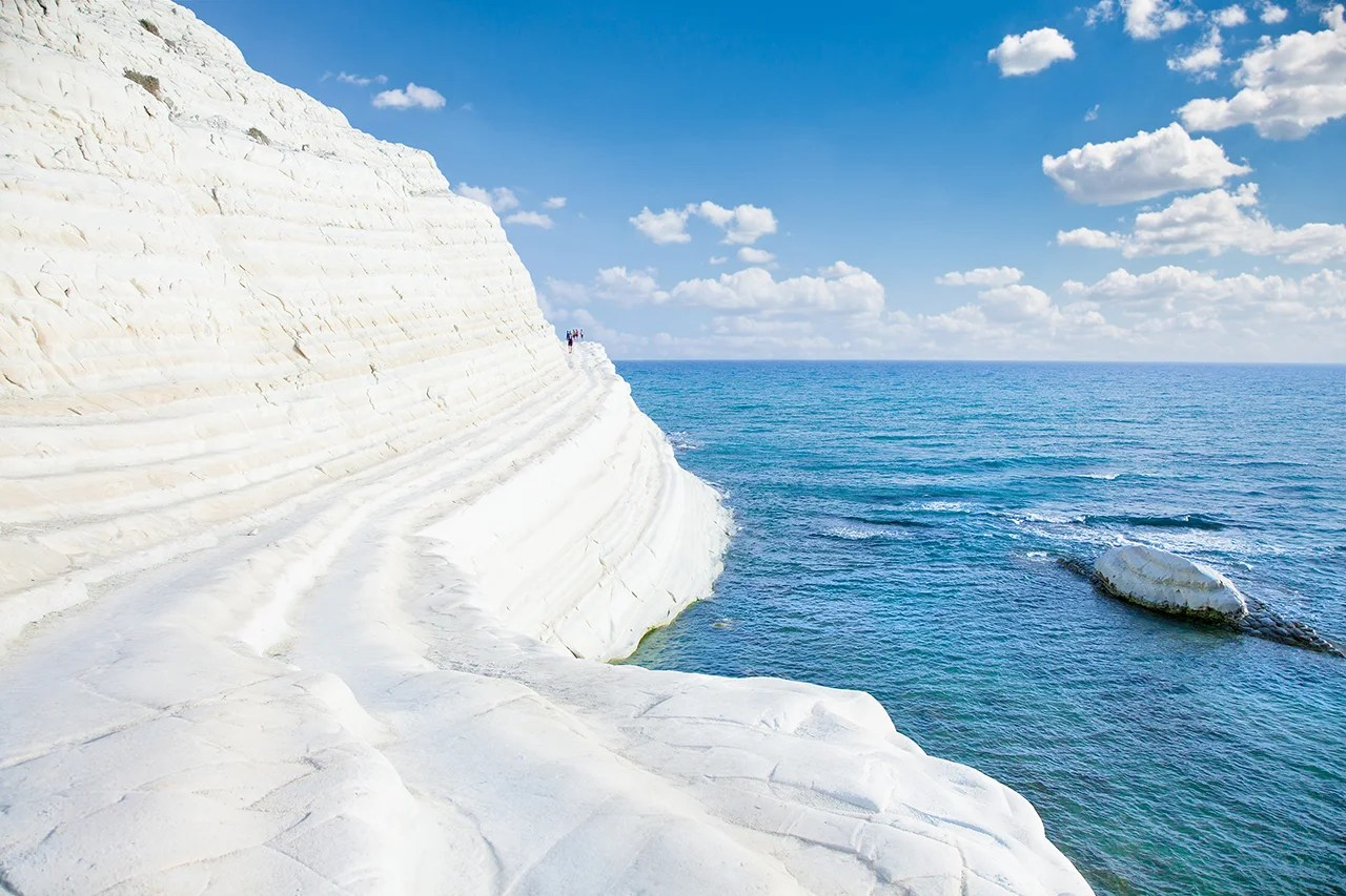 White beach. Scala dei Turchi on Sicily, Italy. (Photo by master2 / Getty Images)